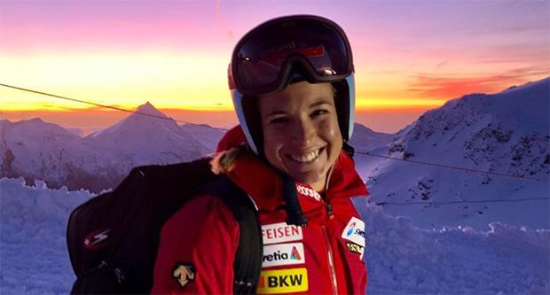 Jasmine Flury freut sich über Europacup-Abfahrtssieg in Crans-Montana