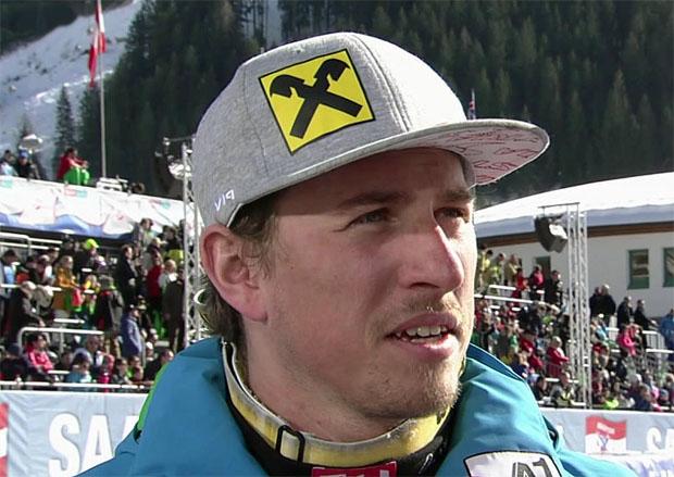 Max Franz (AUT) mit Trainingsbestzeit beim Abschlusstraining in Saalbach Hinterglemm
