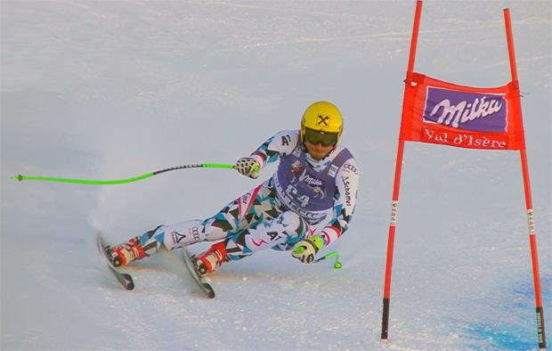 Max Franz bei Super-G in Val d'Isere als bester ÖSV Rennläufer auf Platz 10