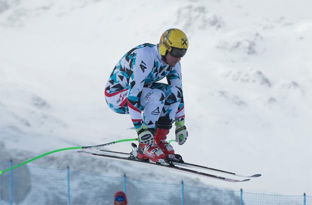 Auch Saslong Sieger Max Franz nutze den Montag zum Training in Santa Caterina (Foto: S. Caterina FIS Alpine Ski World Cup)