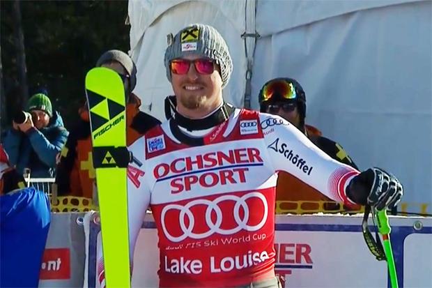 Max Franz landete am Samstag bei der Abfahrt im kanadischen Lake Louise auf Platz eins