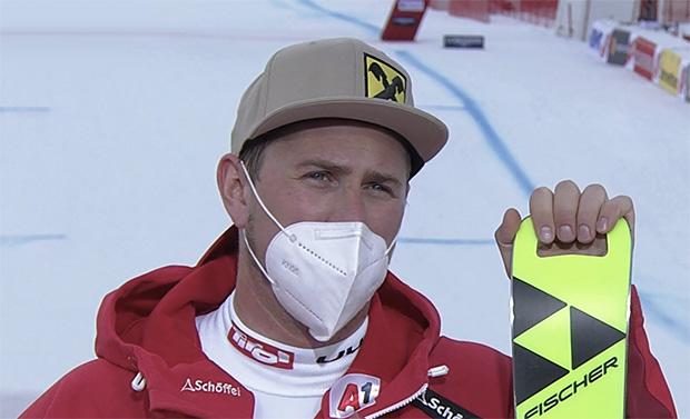 Max Franz mit Tagesbestzeit beim Abfahrtstraining in Garmisch-Partenkirchen 2021