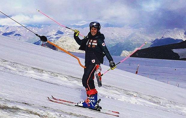 Schnee-Comeback von Marie-Michèle Gagnon (Foto: Marie-Michèle Gagnon  / privat)