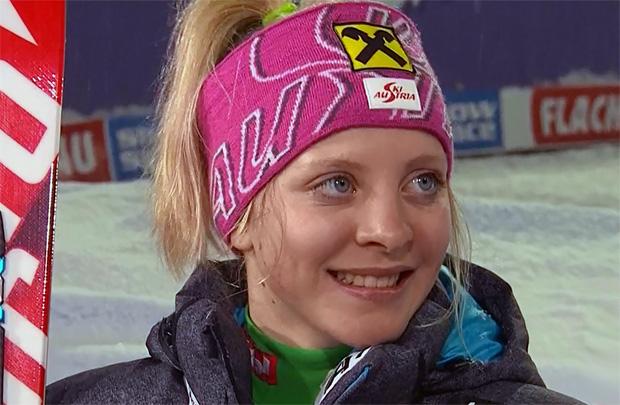 """Kathi Gallhuber im Skiweltcup.TV-Interview: """"Kathrin Zettel ist sicher ein Vorbild"""""""