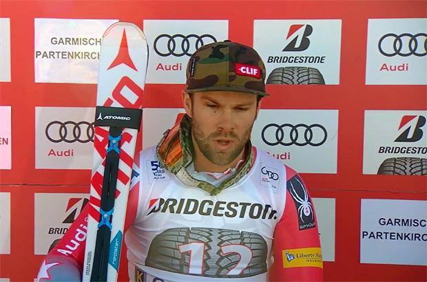 Travis Ganong gewann 2017 die erste Abfahrt von Garmisch-Partenkirchen