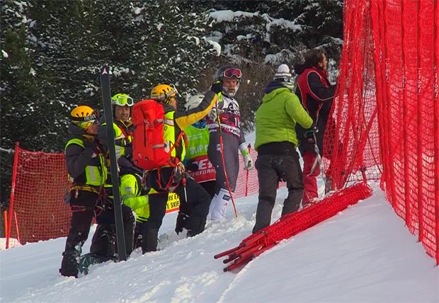 Der US-Amerikaner Travis Ganong, hat sich bei der Weltcupabfahrt in Bormio einen Kreuzbandriss im rechten Knie zugezogen