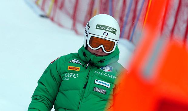 Verena Gasslitter trainiert mit den azurblauen Slalom-Damen (© Archivi FISI/ Marco Trovati Pentaphoto- Mateimage)