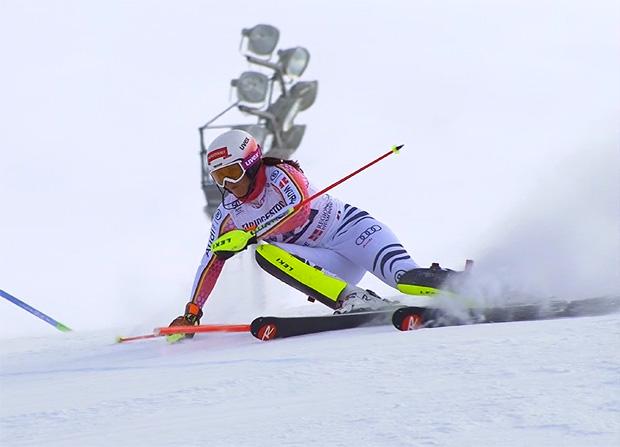 Tina Geiger belegt beim Slalom in Sestriere Platz 18