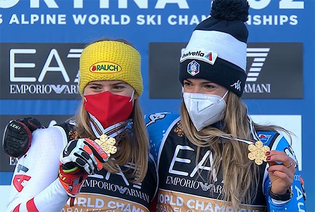 Ski-WM 2021: Marta Bassino und Katharina Liensberger teilen sich Gold im Parallel-Rennen