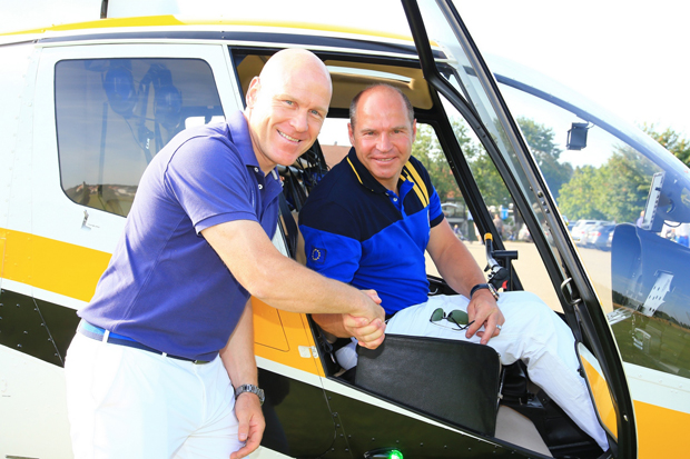 Zwei große Skisportler: Didier Cuche und Marc Giradelli (Foto: Marc Giradelli / privat)