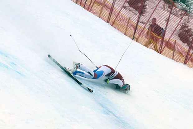 Marc Gisin stürzte im Abfahrtstraining in Kitzbühel schwer