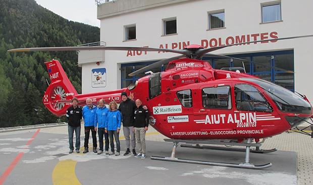 """Marc Gisin bedankt sich bei Aiut Alpin: """"Ihr habt mir das Leben gerettet"""" (© saslong.org)"""