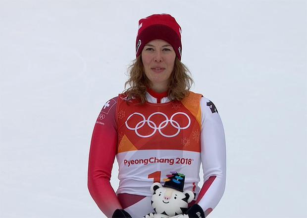 Michelle Gisin ist die Alpine-Kombinations-Olympiasiegerin 2018.