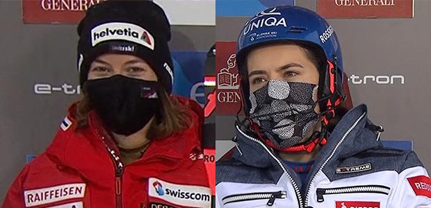 Michelle Gisin und Petra Vlhová teilen sich Führung beim zweiten Slalom von Levi