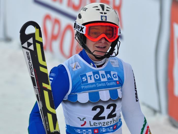 © Christian Einecke (CEPIX) / Nicole Gius aus Stilfs, nach dem ersten Durchgang noch in aussichtsreicher neunter Position, schied im zweiten Lauf aus.