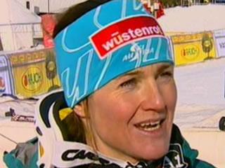 Elisabeth Görgl mit Bestzeit beim Abschlusstraining in Garmisch Partenkirchen