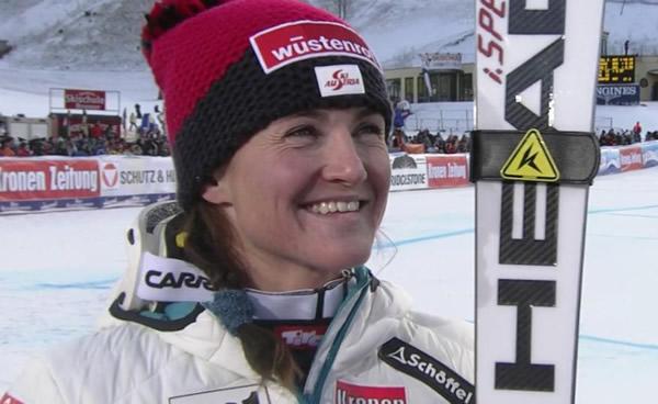Lizz Görgl im Super-G von Cortina Vierte