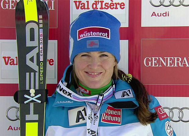 Lizz Görgl gewinnt Super-G von Val d'Isère