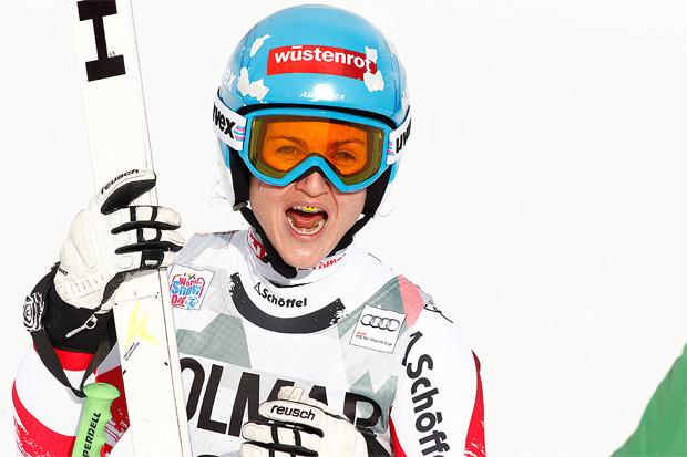 Görgl hinter Vonn Zweite in Cortina d'Ampezzo