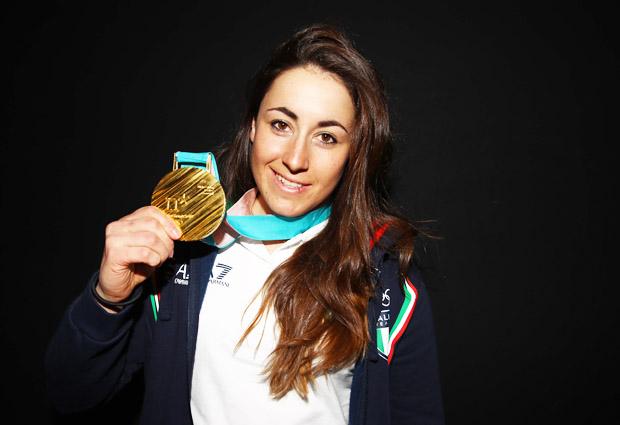 © Archivio FISI / Olympiasiegerin Sofia Goggia fährt um Abfahrts-Kristall