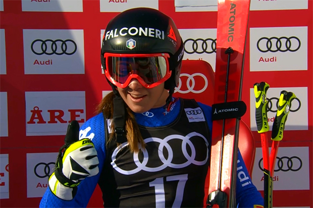 Sofia Goggia gewinnt Super-G in Are .....
