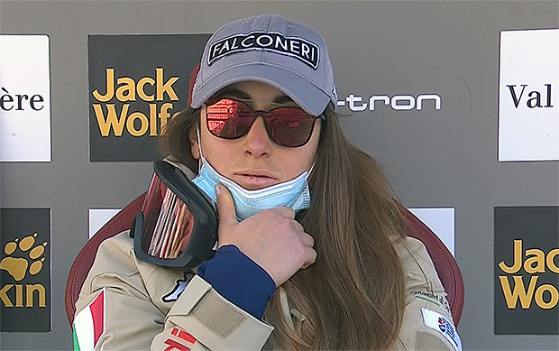 Sofia Goggia gewinnt zweite Abfahrt am Samstag in Val d'Isere