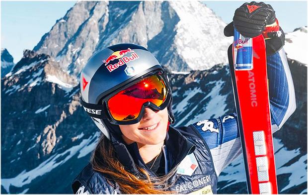 Sofia Goggia hat den gleichen Helm wie ihr Idol Lindsey Vonn (Foto: © Sofia Goggia- Instagram)