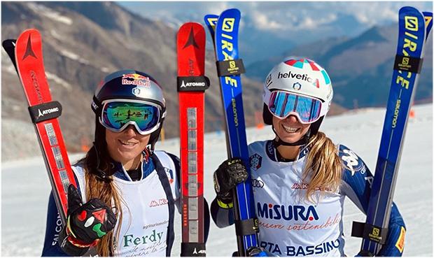 Sofia Goggia trainiert mit Marta Bassino in Zermatt (Foto: © Marta Bassino / Instagram)