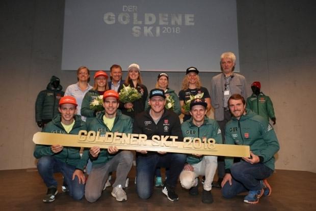 """""""Goldener Ski 2018"""": Höchste Auszeichnung für DSV-Aktive (Foto: Deutscher Skiverband)"""