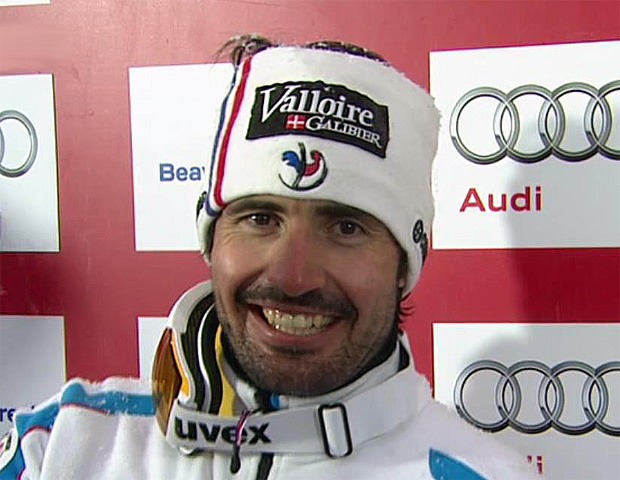 Jean-Baptiste Grange aus Frankreich holt Gold im WM-Slalom