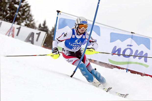 Die Salzburgerin Lisa Grill entschied den Slalom und die Kombination für sich. (Foto: Peter Lintner)
