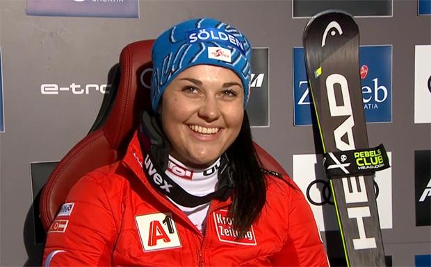 Franziska Gritsch freute sich über Platz 12 beim Damen-Slalom in Zagreb