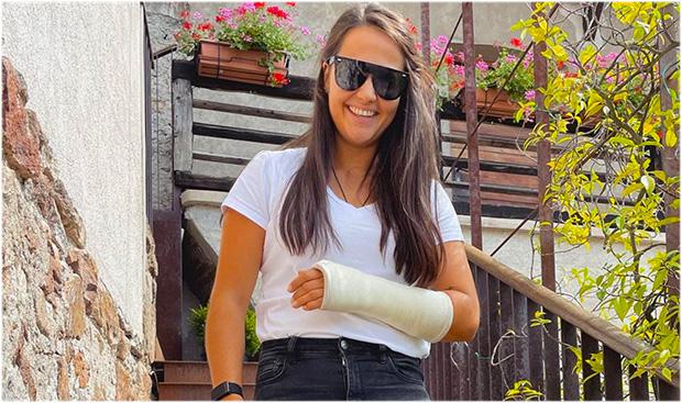 Armverletzung: Franziska Gritsch in der Sommervorbereitung ausgebremst. (Foto: © Franziska Gritsch / Instagram)