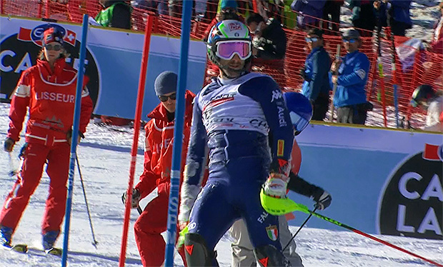Stefano Gross schied in Chamonix, mit einem Podestplatz vor Augen, aus.