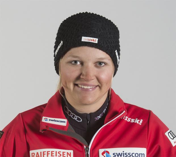 Katja Grossmann am Bein verletzt (Foto: Swiss-Ski.ch)