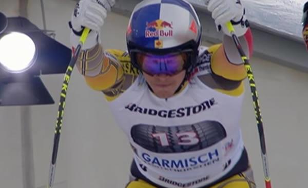 Erik Guay Schnellster beim Abschlusstraining in Garmisch Partenkirchen