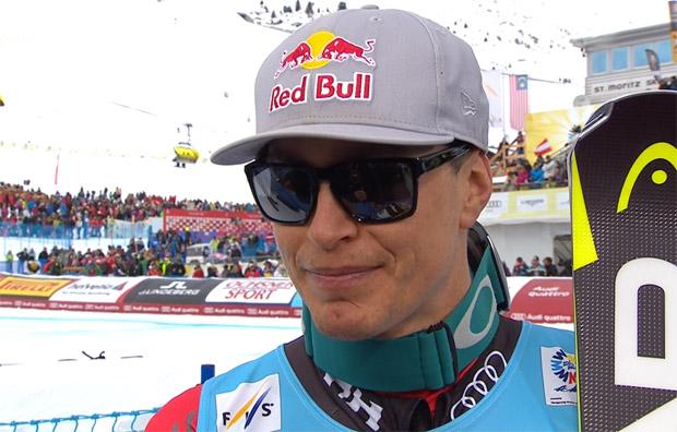 Erik Guay strahlt über Gold im WM-Super-G von St. Moritz