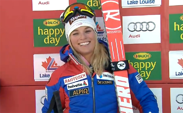 Lara Gut triumphiert beim Super-G in Lake Louise