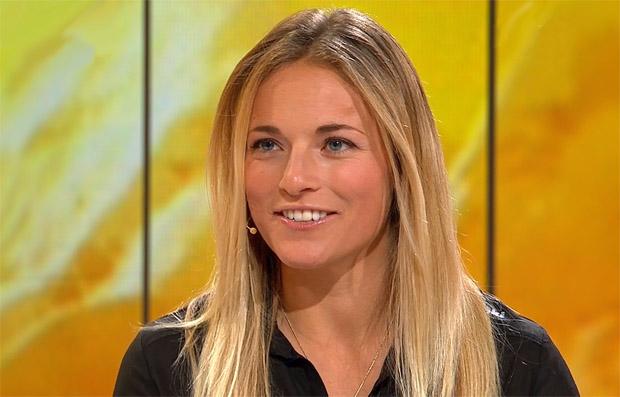 """""""Valdy"""" macht Lara Gut bei Wiedersehensfeier glücklich"""