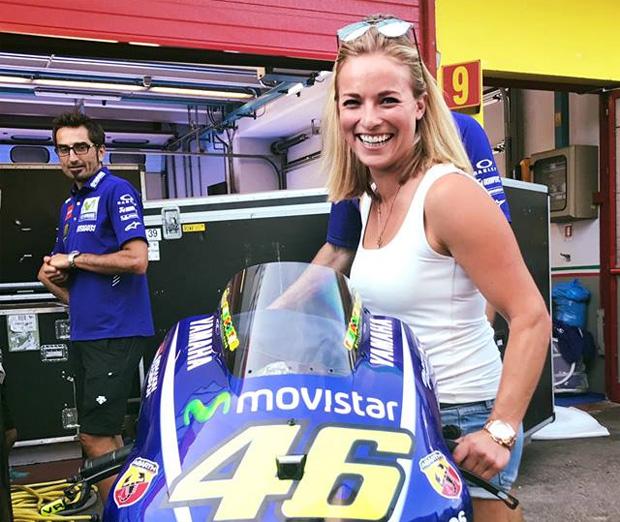 Lara Gut war bei Valentino Rossi zu Gast. (Foto: Lara Gut / Facebook)