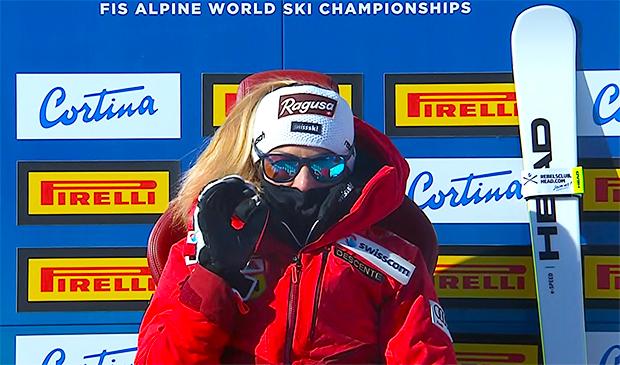 Lara Gut-Behrami krönt sich in Cortina d'Ampezzo zur Super-G Weltmeisterin 2021