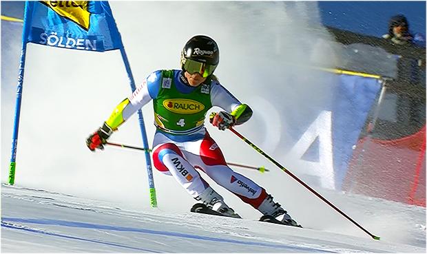 Lara Gut Behrami übernimmt Führung beim Riesentorlauf der Damen in Sölden