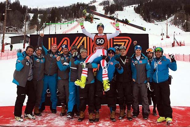 Nach Bronze bei der Abfahrt, sorgte Raphael Haaser mit der Silbermedaille beim Junioren-WM Super-G für den nächsten Paukenschlag. (Foto: ÖSV)