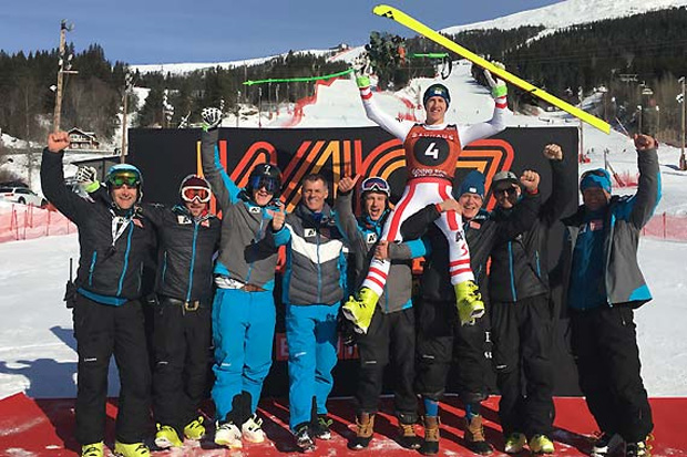 Raphael Haaser feierte seine bereits zweite Medaille bei der Junioren-WM in Are. (Foto: ÖSV)