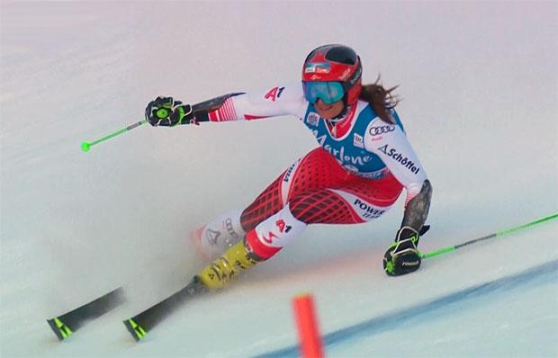 Ricarda Haaser schafft nach dem siebten Platz am Semmering eine weitere Top Ten Platzierung