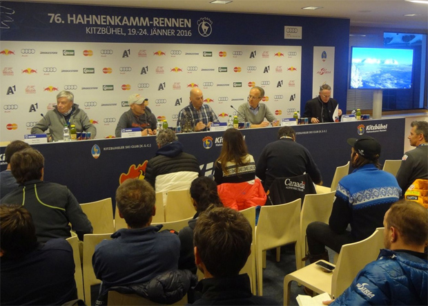 © hahnenkamm.com  / Zweites Team Captains Meeting: Positive Bilanz des ersten Trainingstages