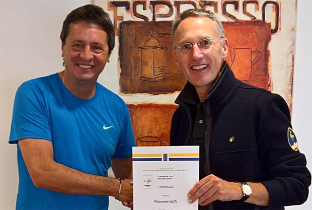 © hahnenkamm.com / FIS Europacup-Koordinator Peter Gerdol & HKR OK-Chef Michael Huber