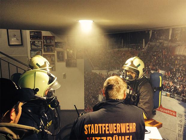 © hahnenkamm.com / Feuerwehr Kitzbühel im Zielhaus