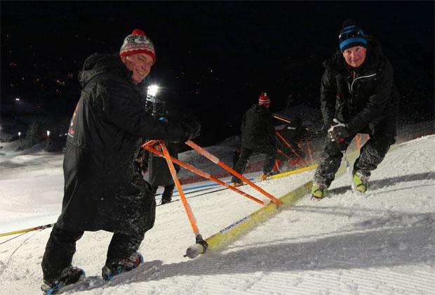 © hahnenkamm.com / Ganslernhang: Der Klassiker ist für die Slalomartisten bereit