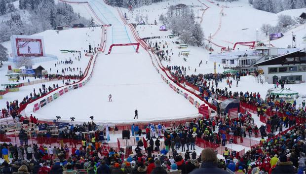 © hahnenkamm.com /  Super-G der Herren in Kitzbühel startet pünktlich um 11.45 Uhr